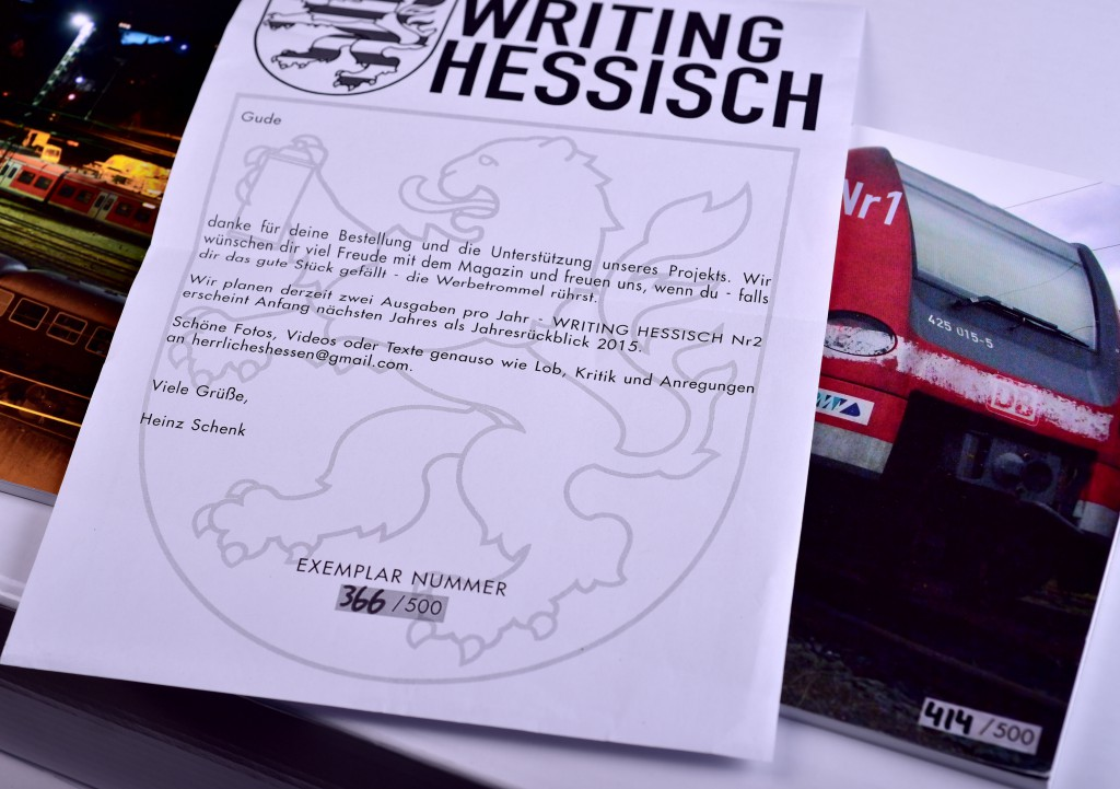 """WRITING HESSISCH"" No.1 das neue GRAFFITI Magazin aus Frankfurt am Main"