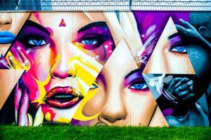 EZB Graffiti Leinwand